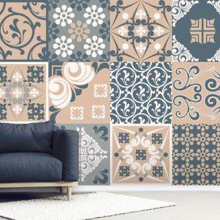 Living Room Wallpaper Wall Murals Wallsauce Uk In 2020 Pink Tiles Wall Painting Living Room Tile Wallpaper