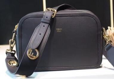e0498fe49b2 2018 discount Fendi Camera Case Compact Shoulder Bag Black