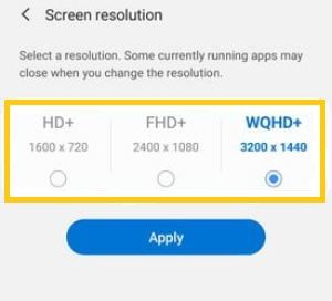 How To Change Screen Resolution On Samsung Galaxy S20 Ultra In 2020 Screen Resolution Galaxy Samsung