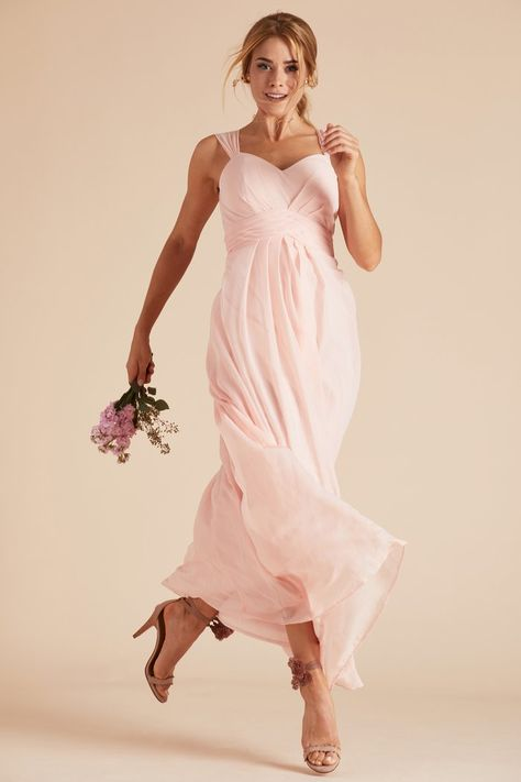 b81dd61039 Birdy Grey Simone Thick Strap Empire Waist Bridesmaid Dress with Keyhole  Cutout Back in Blush Pink under  100