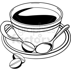Black And White Coffee Cup Vector Clipart White Coffee Cups Black And White Coffee Coffee Cups