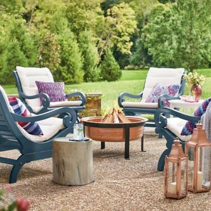 Austin Blue Ikat Outdoor Pillow Outdoor Furniture Outdoor Furniture Stores Teak Outdoor Furniture