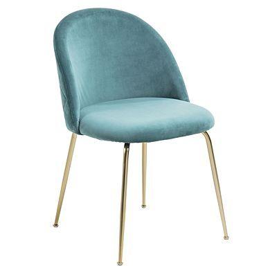 Admirable Zanui Gerulf Velvet Dining Chair Gold Legs Teal Decor Ncnpc Chair Design For Home Ncnpcorg