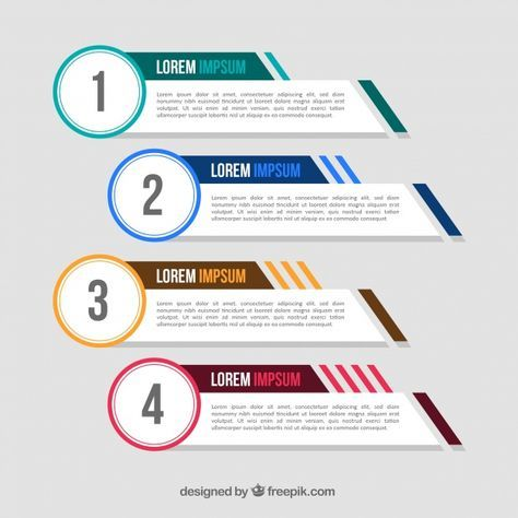 Download Pack Of Four Infographic Banners With Color Elements For Free Powerpoint Design Templates Infographic Design Template Infographic Template Powerpoint
