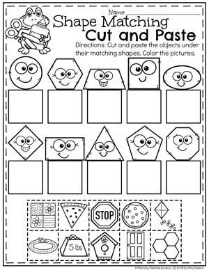 Teach child how to read: Free Color Cut And Paste ...