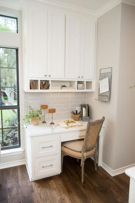 Fixer Upper Designing A Home For A Designer Kitchen Office Nook