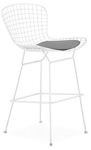 Amazon Com Bertoia Style Wire Counter Stool In White Finish Frame
