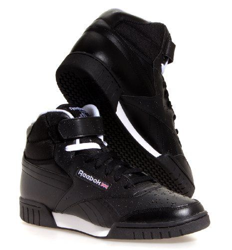 and the reeboks with the straps