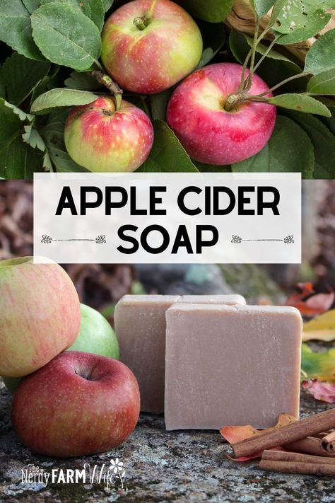 Handmade Soap Recipes, Handmade Soaps, Ginger Essential Oil, Essential Oils, Diy Body Wash, Lotion Bars, Apple Cider, Apple Juice, Cold Process Soap