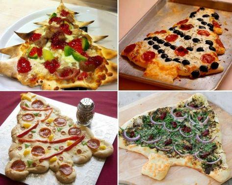 Recette sapin noel pizza