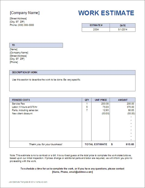 Download A Simple Price Quote Template For Excel Easily Create