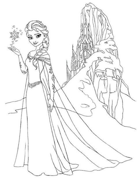 Elsa Ausmalbilder Ausmalbilder Fur Kinder Malvorlage Prinzessin