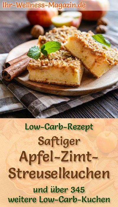 Saftiger Low Carb Apfel Zimt Streuselkuchen Rezept Ohne Zucker Rezepte Low Carb Rezepte Streuselkuchen Rezept