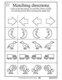 Where S That Arrow Pointing In This Early Reading Worksheet Your Child Finds The One Matching O Preschool Math Worksheets Preschool Worksheets Preschool Math