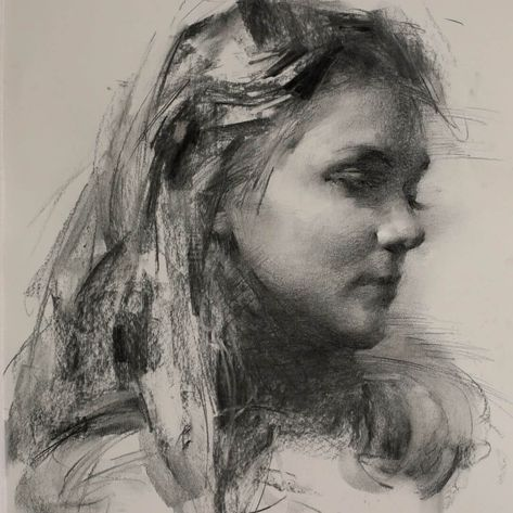 Black and White Charcoal Portraits in 2020 | Charcoal