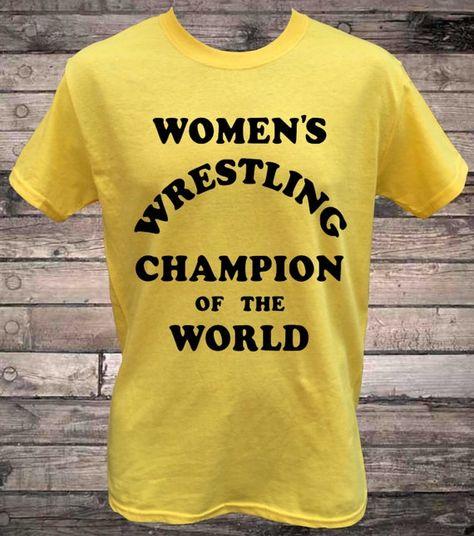 Womens Wrestling Champion of the World Intergender Wrestling T-Shirt