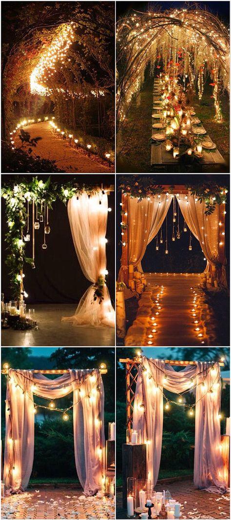 Romantic lights String Decoration Ideas Wedding Arch Useful . Romantic lights String Decoration Ideas Wedding Arch Useful
