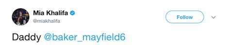 Oklahoma QB Brutally Facepalms Mia Khalifa's Thirsty Flirting On Twitter