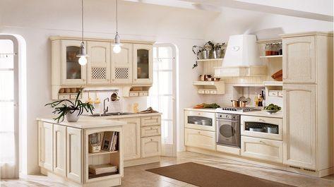 Italienische Landhausküchen mit Schranktüren aus Eichenholz | CUCINA ...