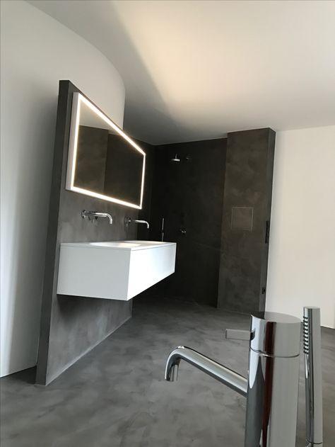 Fugenloses Badezimmer Betonlook Badezimmer Fliesen Bad Fliesen Designs Badezimmer Im Keller
