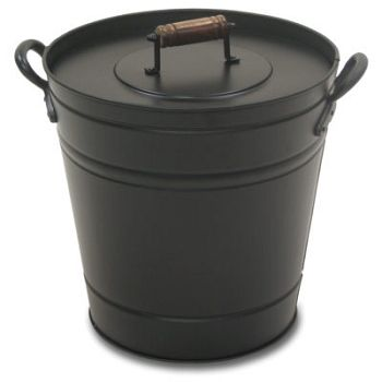 Ash Can With Lid Fireplace Accessories Hearth Metal Containers
