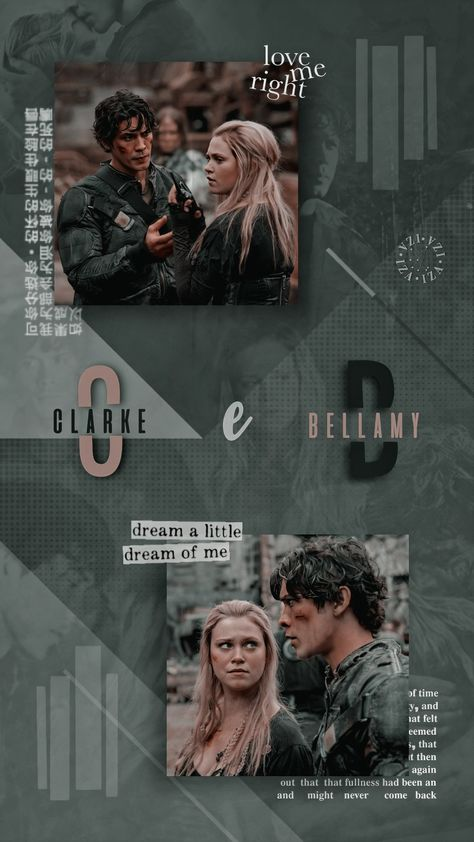 Lockscreen Clarke e Bellamy