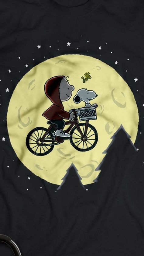 snoopy, ET, and a bike