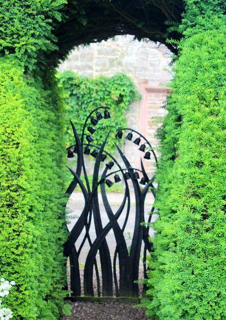 Garden gate with bells