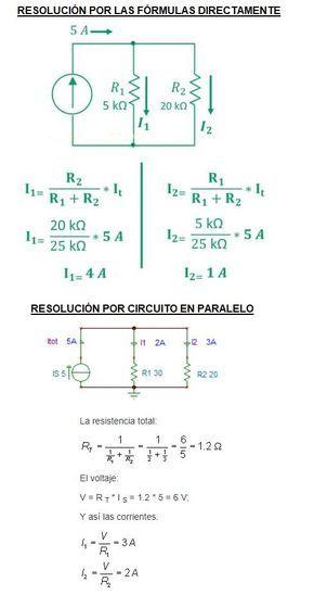 Ejercicios Divisor De Corriente Electrotecnia Electricidad Y Electronica Imagenes De Electricidad