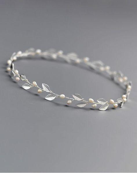 Dareth Colburn Nola Bridal Halo Silver Wrap