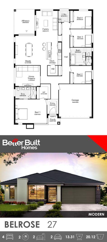 Belrose 27 Dream House Plans One Level House Plans Affordable House Design