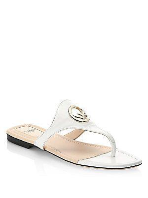 Fendi Bianco F Pendant Sandals