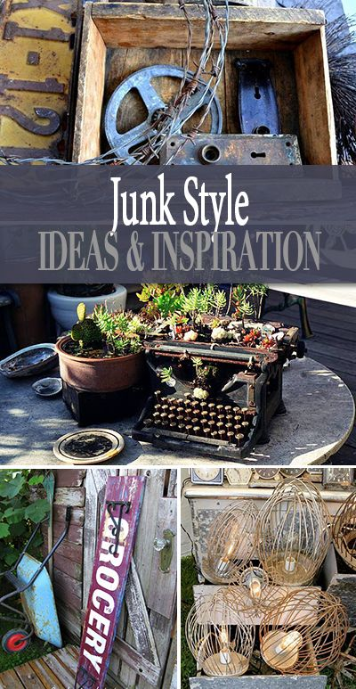 Junk Style – Flea Market Decor Lots of junk style decorating tutorials! Learn … Junk Style – Flea Market Decor Lots of junk style decorating tutorials! Learn to make your own flea market decor for a rustic or vintage decorating theme! Funky Junk Interiors, Flea Market Decorating, Decorating On A Budget, Use What You Have Decorating, Natal Diy, Thrift Store Crafts, Thrift Stores, Flea Market Crafts, Flea Market Gardening