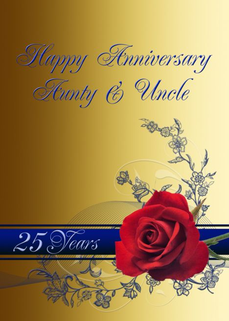 Red Rose Wedding Anniversaryaunty Uncle 25 Years Card Ad Sponsored Wedding A Red Rose Wedding Invitations Red Rose Wedding Wedding Anniversary Cards