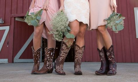 Country Wedding Inspiration: http://www.countryoutfitter.com/style/wedding-inspiration-boots-dresses/?lhb=style