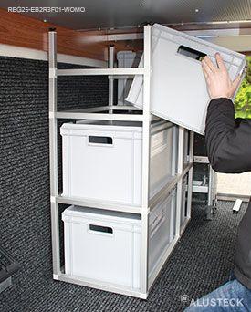 Euro Boxen In Das Regal Einschieben Reisemobil Regal Bauen Packliste Camping