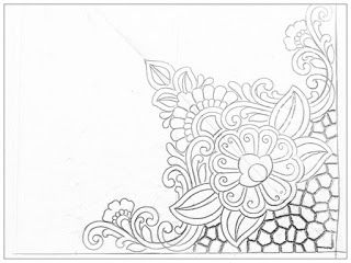 How To Draw Henna Designs On Paper Drawing And Coloring For Kids