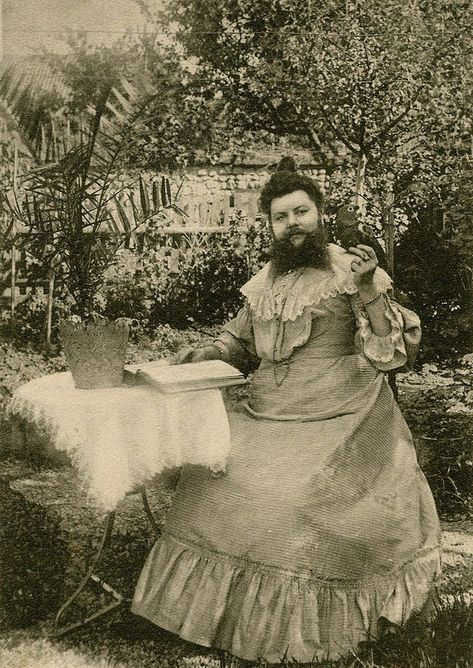 Clémentine Delait (March 5, 1865–1939) was a French bearded lady who kept a café.