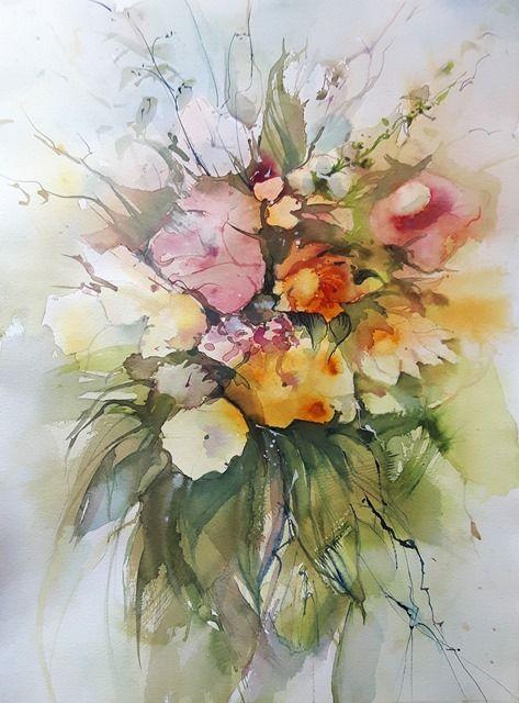 20171009 113958 Blumen Aquarell Blumen Malen Und Aquarell Blumen