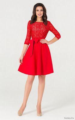 66f1fb54f Vestidos de Encaje Cortos Rojos | Mujeres hermosas | Vestidos de ...