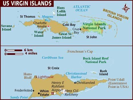 Best Us Virgin Islands Images On Pinterest Iguanas Us Virgin - Us virgin islands vs british virgin islands map