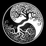 This unique yin yang features a twisted tree growing from the center of the design. The intricate branches that extend into the top of the tear drop pattern are a mirror image of the roots that hang below. This stunning tree of life design is a beautiful representation of the balance of nature.