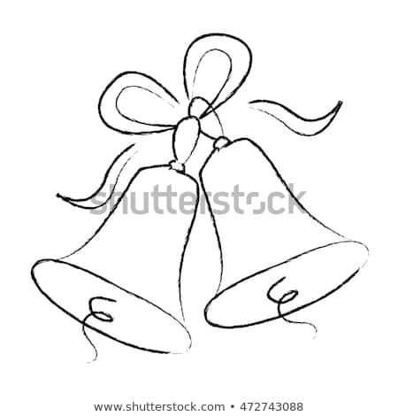 Illustration Of A Elegant Black Color Wedding Bells With Ribbons Isolated N White Background Wedding Bells Clip Art Christmas Bells Drawing Bells Drawing