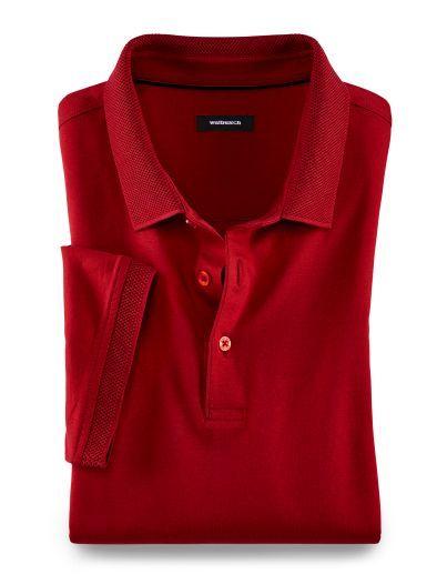 Einkaufen Preis vergleichen Gedanken an Jersey Polo Strukturkragen Rot: Reine, mercerisierte ...