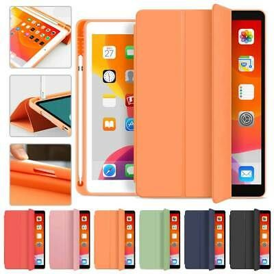 Details About For Ipad 6th Gen 9 7 2018 Magnetic Leather Smart Cover Case With Pencil Holder Leather Case Apple Pencil Holder Ipad Mini