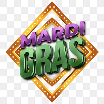 Retro Frames With Mardi Gras 3d Text Frame Label Simple Png Transparent Clipart Image And Psd File For Free Download Mardi Gras Wedding Frames Clip Art