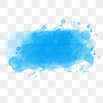 Blue Ink Art Training Watercolor Splash Watercolor Effects Blue Watercolor