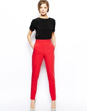 Image 1 ofASOS Trousers With High Waist