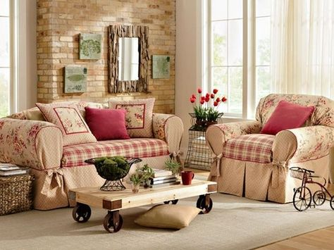 Perfect French Country Cottage Living Room | Cottage Style Living Room. Love The  Rose Themed Slipcovers And Pillows ... | Living/family Room | Pinterest |  Cottage ... Part 23