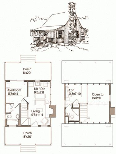 Tiny House Plans Free In 2020 Cabin House Plans Little House Plans Tiny House Plans